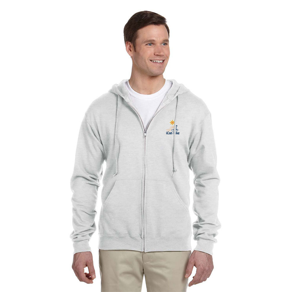 FLEECE FULL-ZIP HOODIE ASH