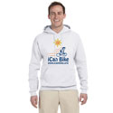 FLEECE PULLOVER HOODIE WHITE